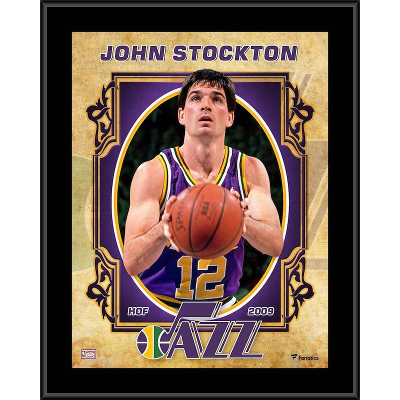 ba69746eefe John Stockton Utah Jazz Fanatics Authentic 10.5   x 13   Sublimated  Hardwood Classics Player Plaque
