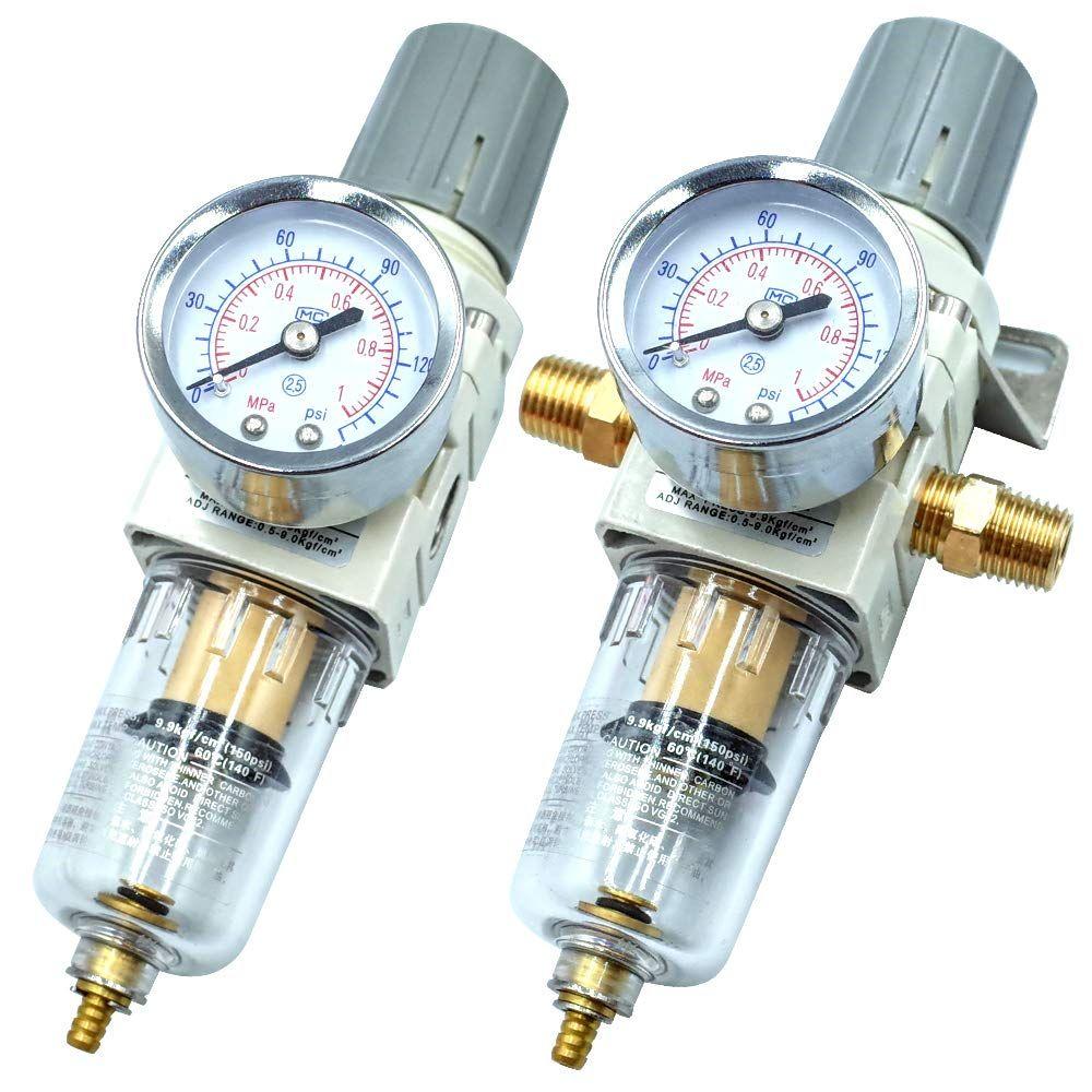 Tailonz Pneumatic 1/4 Inch NPT Air Filter Pressure