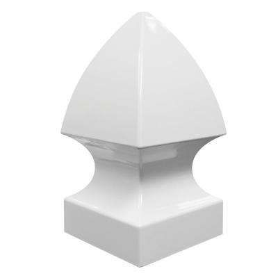 Gothic Post Caps Tops Fencing The Home Depot White Vinyl Fence Vinyl Fence Panels White Vinyl
