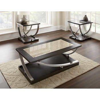 Zach 3 Piece Occasional Table Set Muebles De Metal Centros De