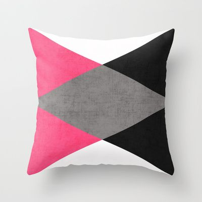 Cosmopolitan Triangles Throw Pillow By Her Art My