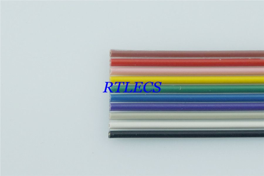 1m Diy 10 Pin 1 27mm Pitch Flat Color Rainbow Ribbon Cable Wire Conductor Ul2651 Awg 28 10 Way For 2 54 Mm Idc T Cable Wire Rainbow Ribbon Electrical Equipment