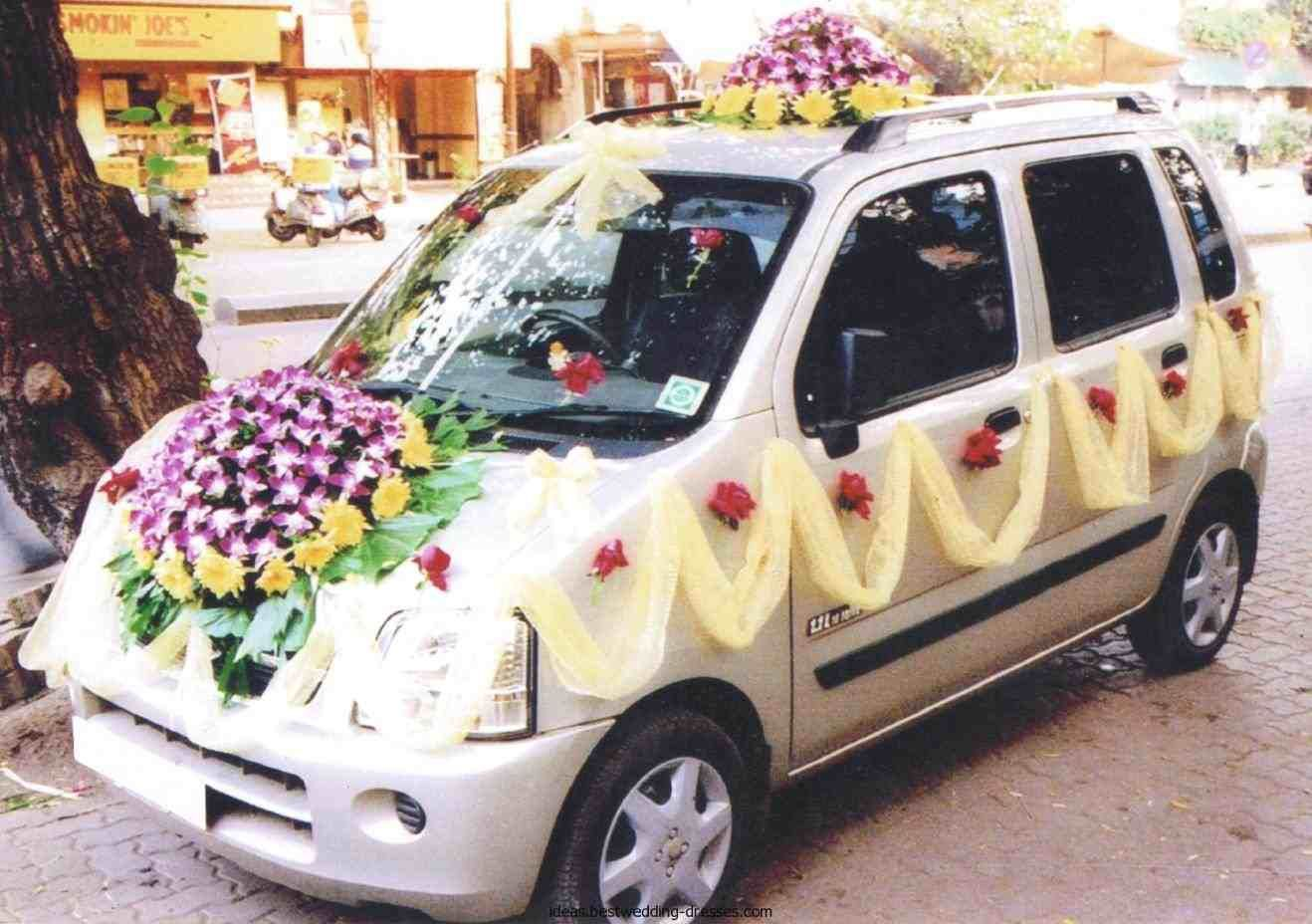 Wedding decorations for car  Pin by Bhadresh on Car decorations  Pinterest  Wedding car