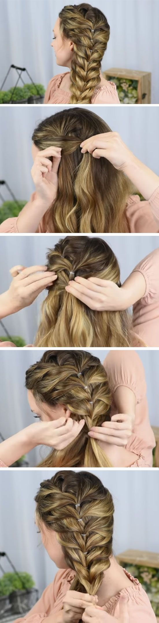 Side faux braid quick diy prom hairstyles for medium hair and easy homecoming long also   pinterest rh