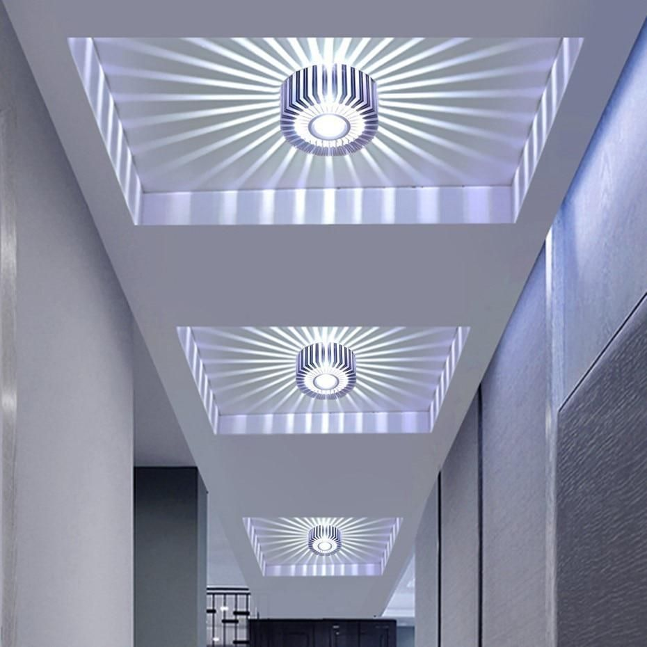 Modern Ceiling Light Colorful Indoor Led Ceiling Lamp 3w Wall Sconce For Gallery Balcony Lamp Porch Light Corridor Light Fixture In 2021 Modern Led Ceiling Lights Modern Ceiling Light Led Ceiling Lights