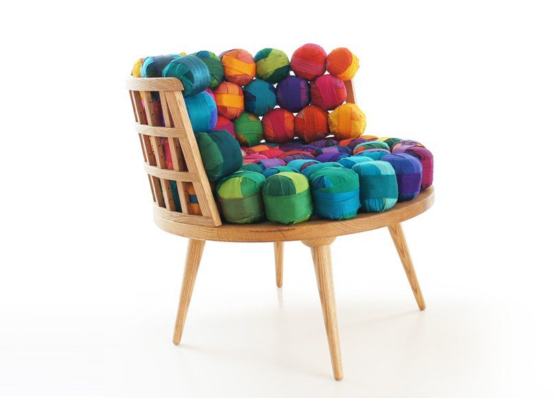 Recycled Silk Chair, Ottoman & Stool by Meb Rure | Arquitectura ...