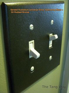 The Simplest Of Spray Projects Outlet Ers In Metallic Oil Rubbed Bronze And Hammered Silver