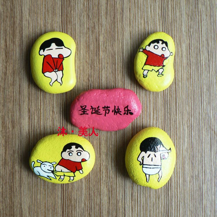 Crayon Shin Chan Painting Stone