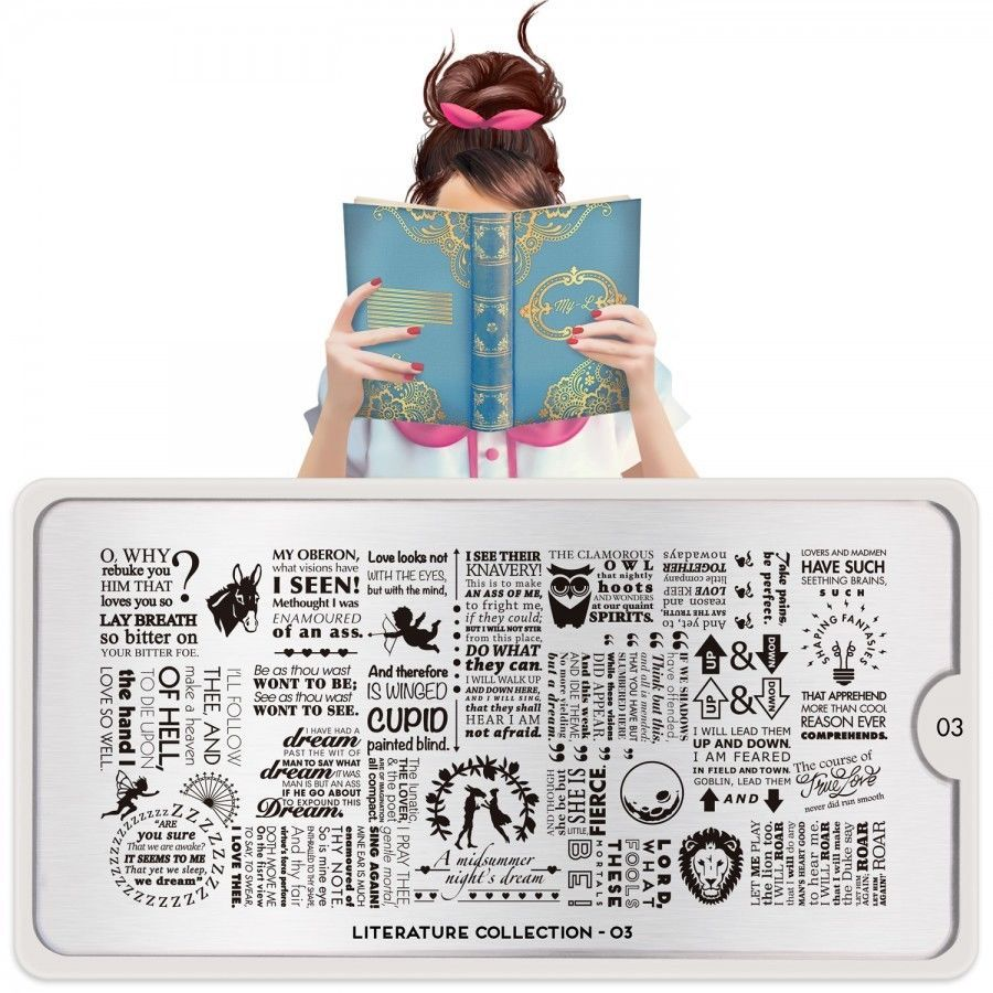 MoYou London Stamping Schablone *Literature Collection 3* 03 Schrift ...