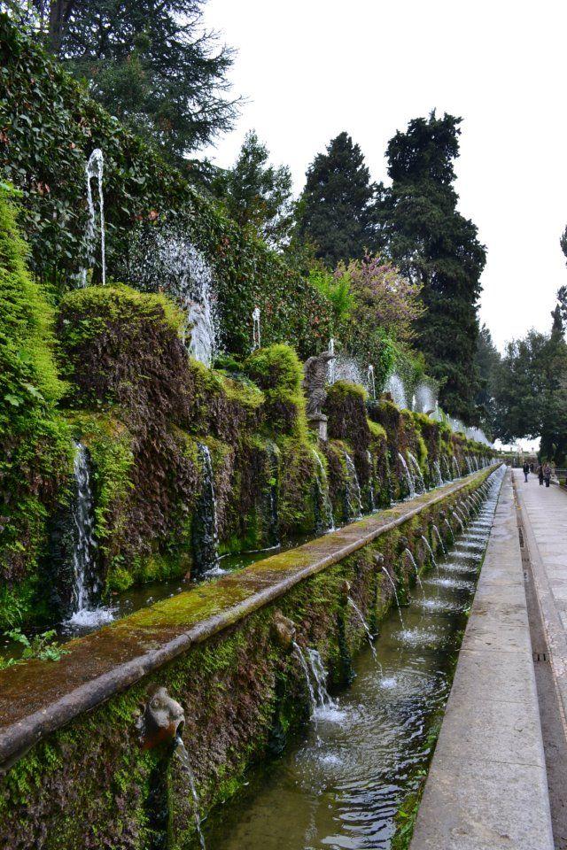 Villa D Este Tivoli Italy Via Of 100 Fountains Tivoli Gardens