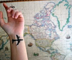 Kinda a neat tattoo for world travelers and other types too cute world tatoo and maps image on we heart it gumiabroncs Images