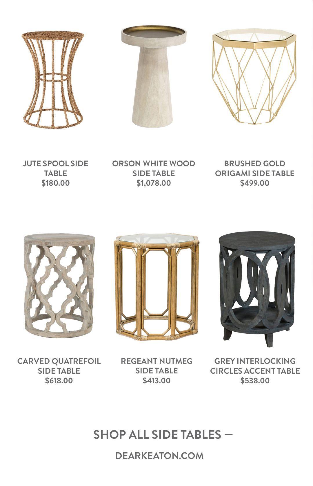 Spotlight On Side Tables Decorating Dear Keaton Blog Side Table Boho Chic Interior Design Trending Decor