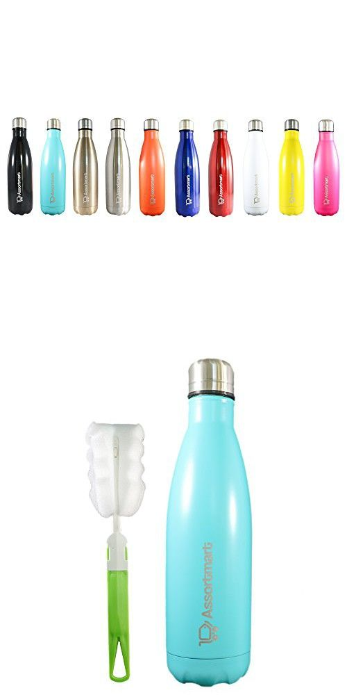 Insulated Water Bottle - 17oz - Double Wall Stainless ...