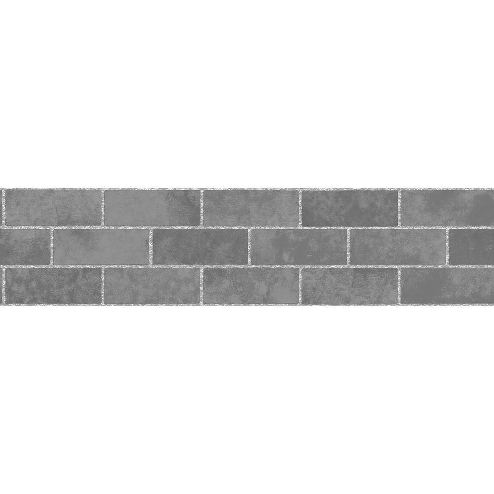 Brewster Stone Tile Peel And Stick Wallpaper Border Tfdb50028 The Home Depot Stone Wallpaper Stone Tiles Stone Tiles Kitchen