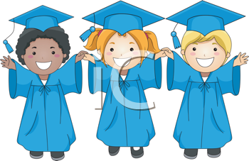 graduation clipart 3 kids graduating graduacion pinterest rh pinterest com Preschool Graduation Border Clip Art Preschool Graduation Border Clip Art