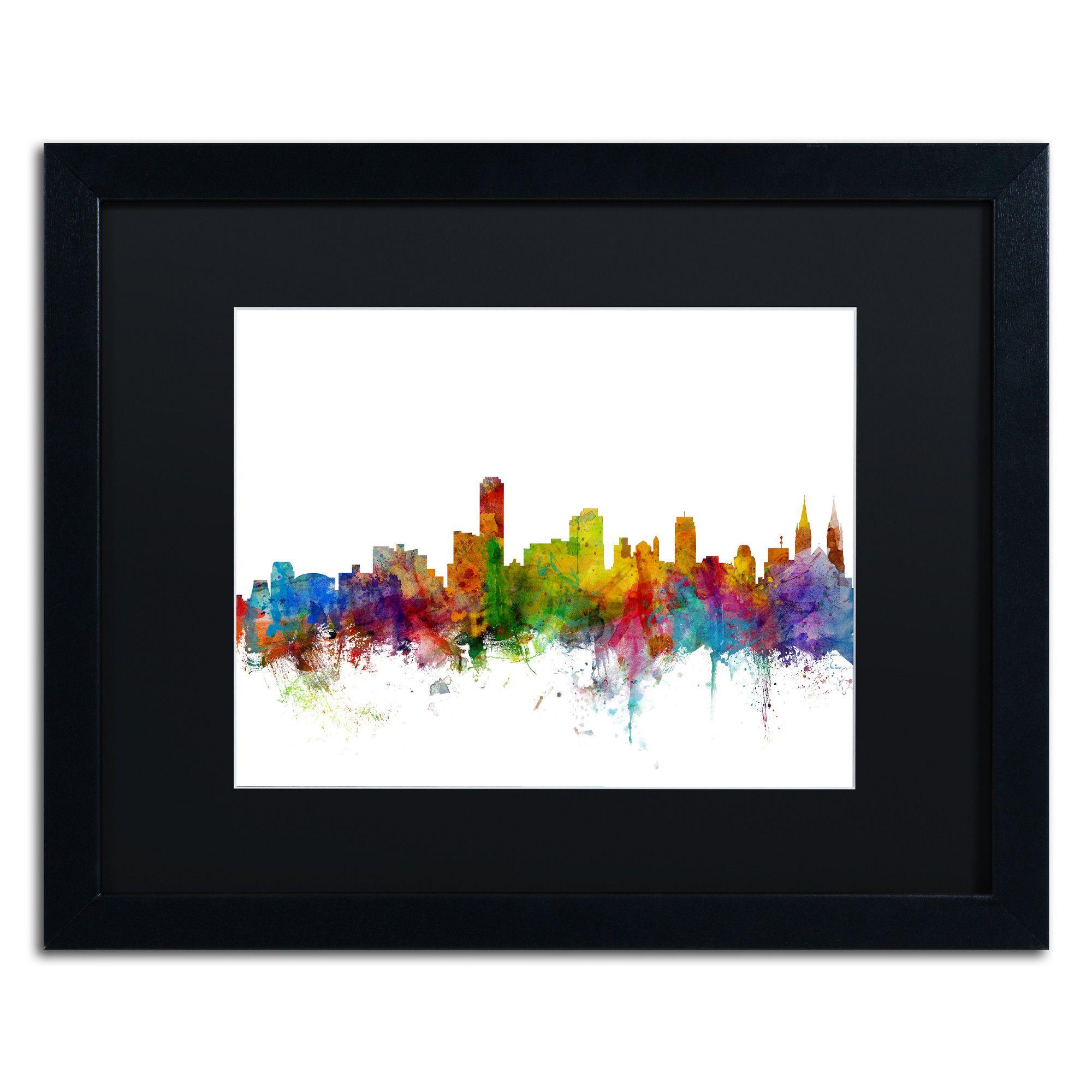 Adelaide Australia Skyline II by Michael Tompsett Framed Graphic Art ...