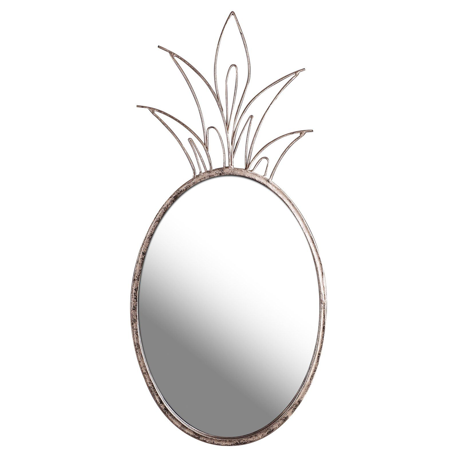 Mirrorize Canada Gold Pineapple Decorative Wall Mirror 10 5w X 22 75h In Mirror Wall Mirror Mirror Wall Decor