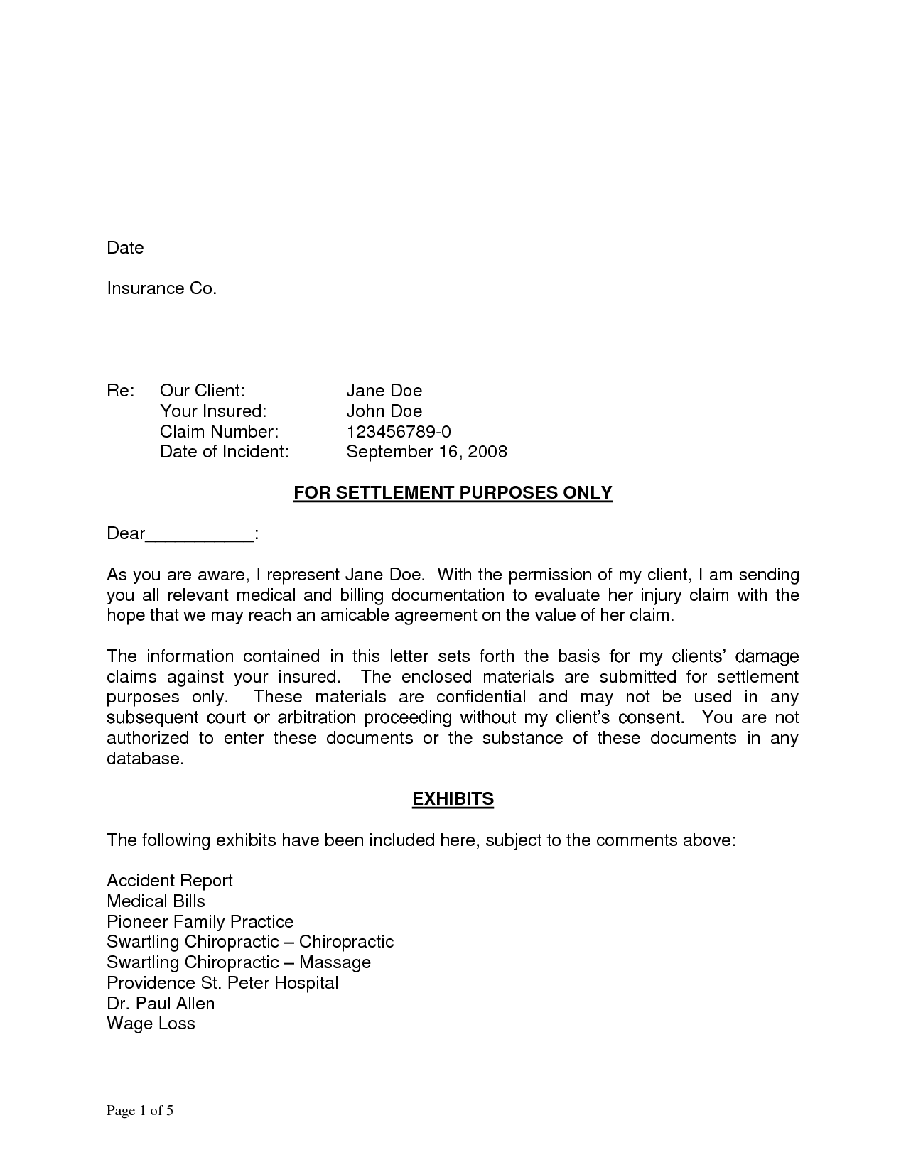 demand letter sample eviction notice template accident injury