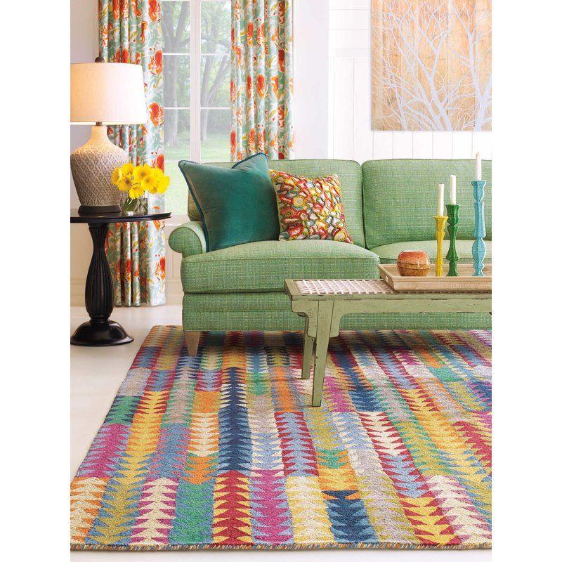Geometric Handmade Tufted Jute Sisal Multicolor Area Rug Colourful Living Room Decor Colourful Living Room Decor