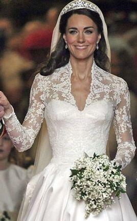 Paniculata Blanca Vestido De Novia De Kate Middleton Vestidos De Novia Ramo De Novia Sencillo