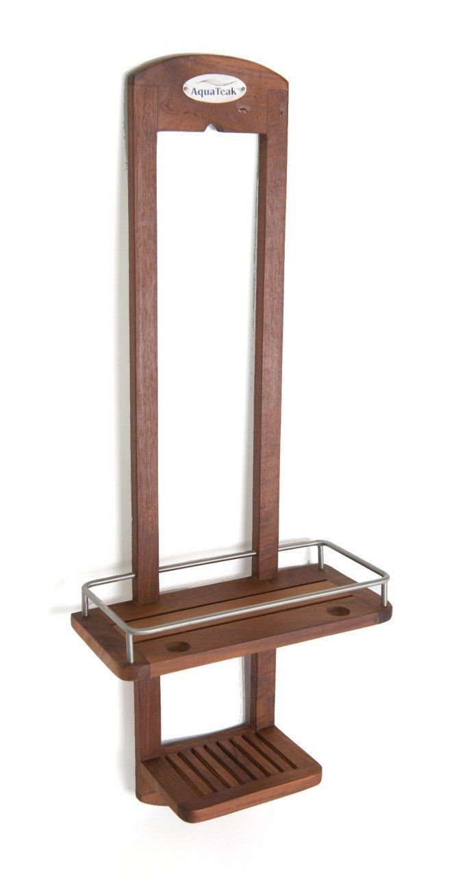 Teak Outdoor Shower Caddy | Bathroom Utensils | Pinterest