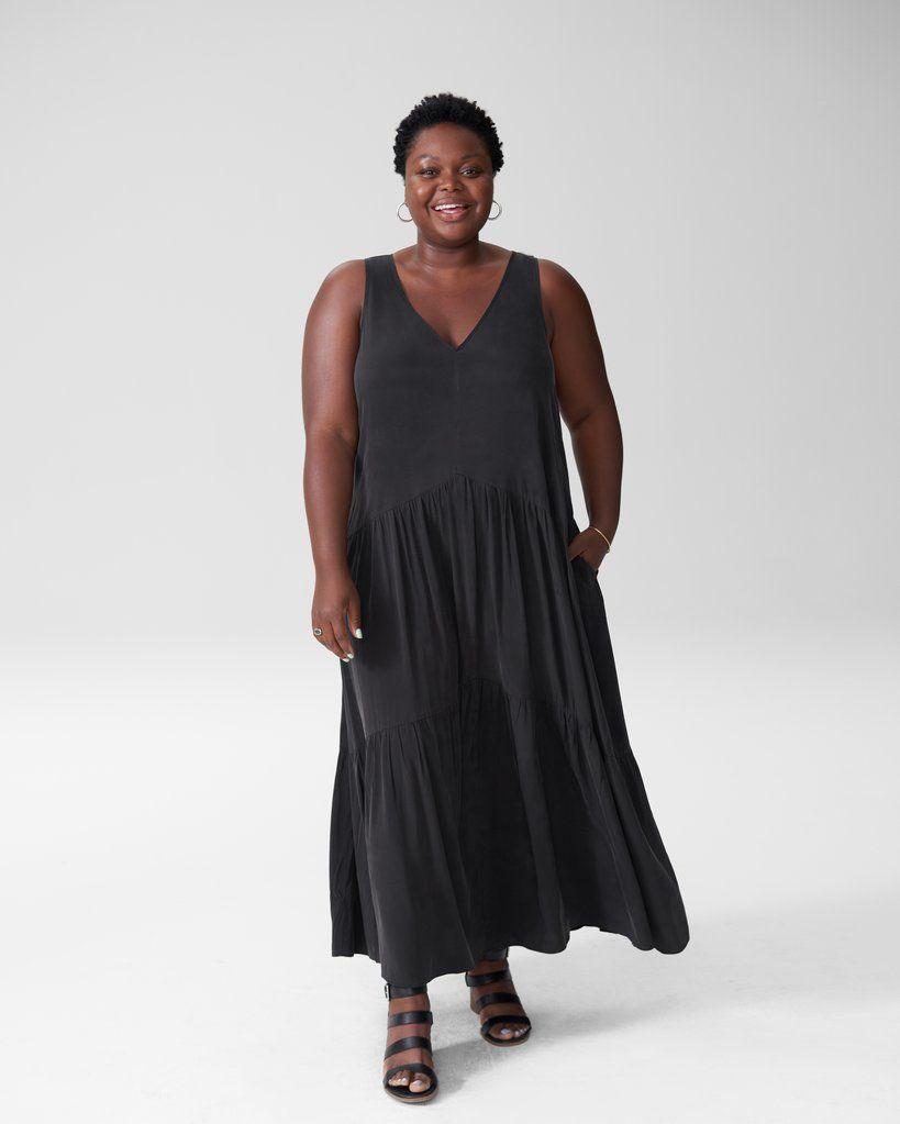 Emily Cupro Maxi Dress Black In 2020 Maxi Dress Black Maxi Dress Elegant Maxi Dress