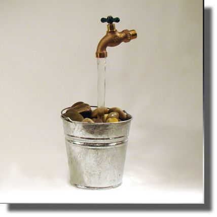 Fake Floating Faucet Fountain Gardening Pinterest Faucets And Buckets