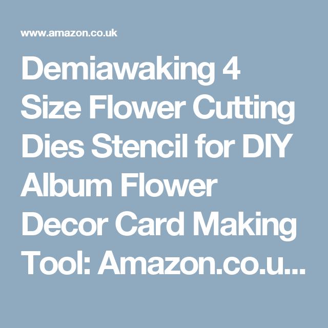 Amazon Card Making Part - 50: Demiawaking 4 Size Flower Cutting Dies Stencil For DIY Album Flower Decor Card  Making Tool: