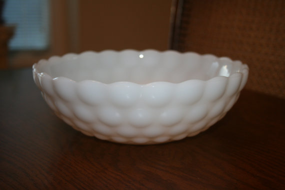 Hey, I found this really awesome Etsy listing at https://www.etsy.com/listing/165501728/vintage-white-milk-glass-bubble-serving