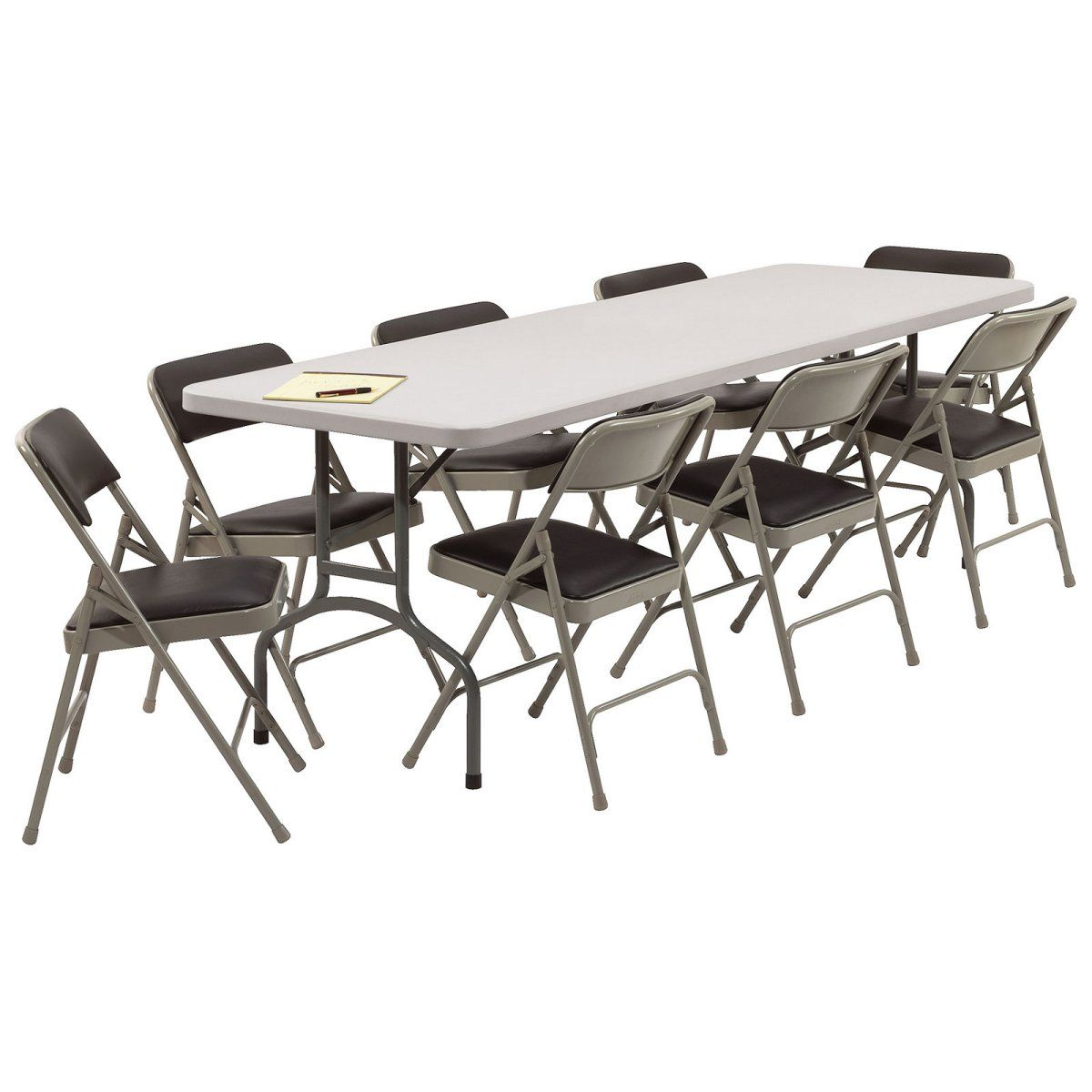Room Design Round Folding Table And Chairs For Family And