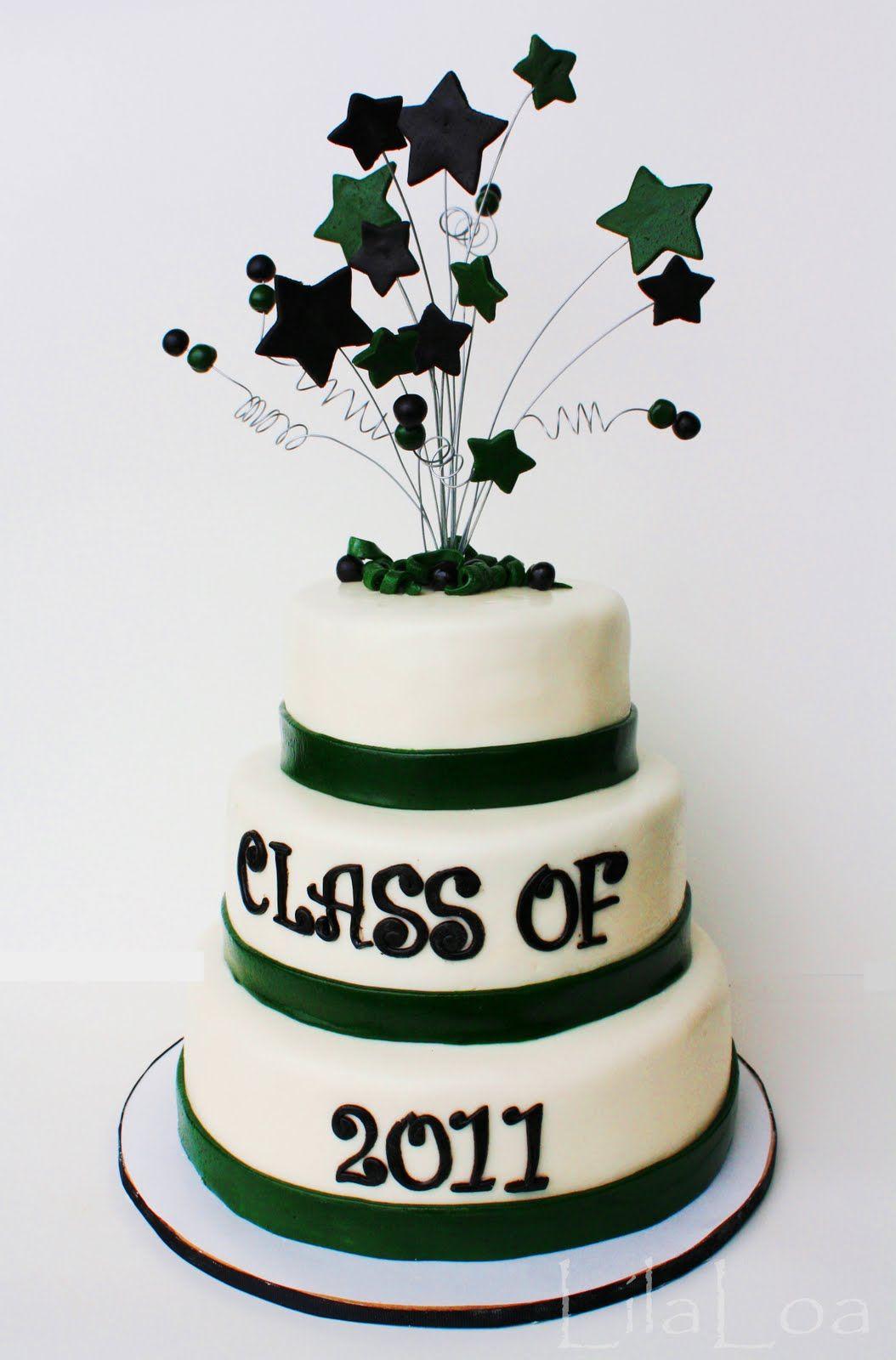 Graduation cake idearyan on top layer use red trim
