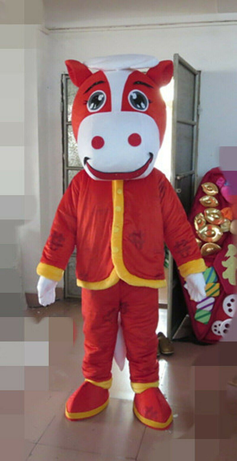 red halloween costumes mascot