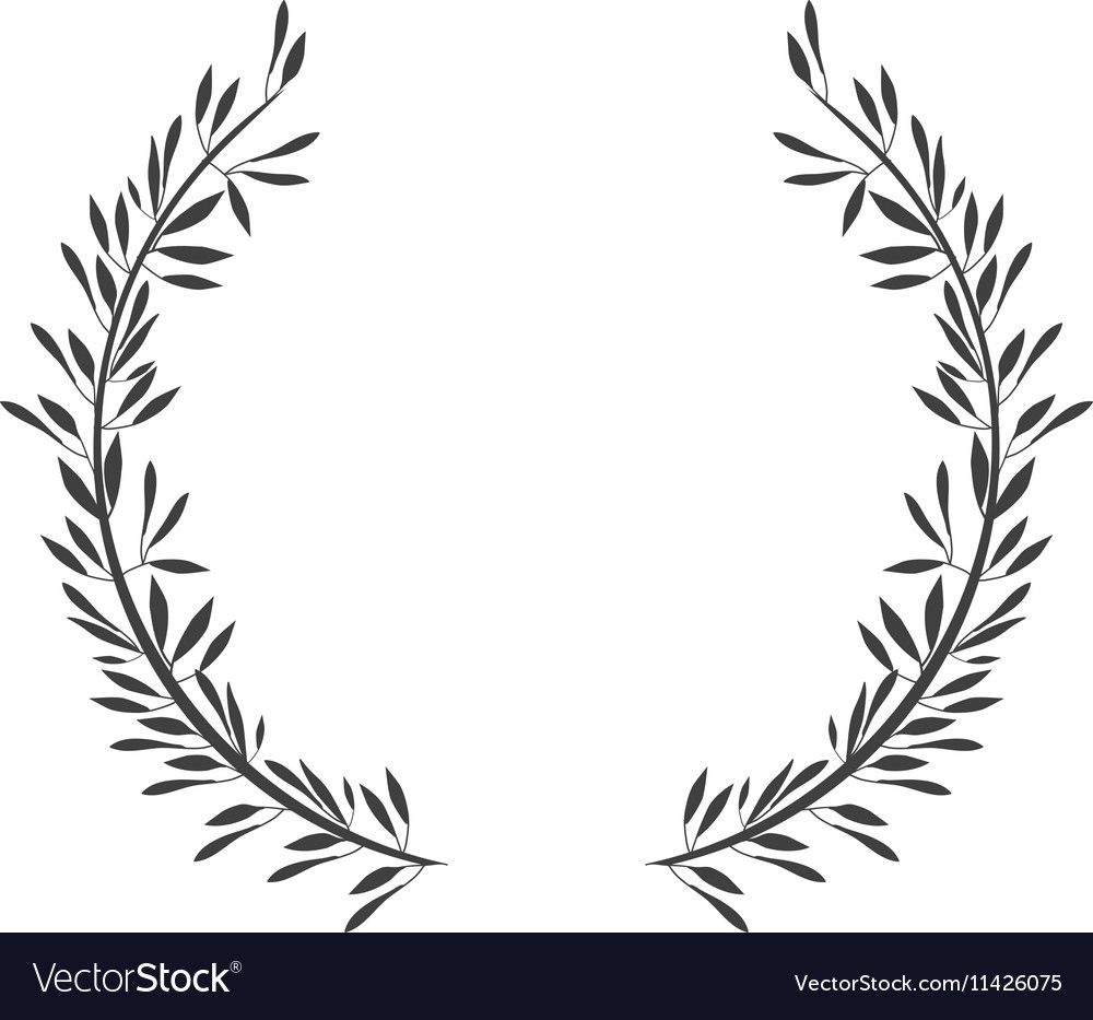 Two Olive Branches Com Olive Branch Branch Vector Olive Branch Tattoo