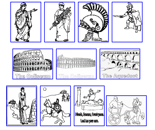 italian art for kids  AS THE ROMANS DO Roman Colouring pages