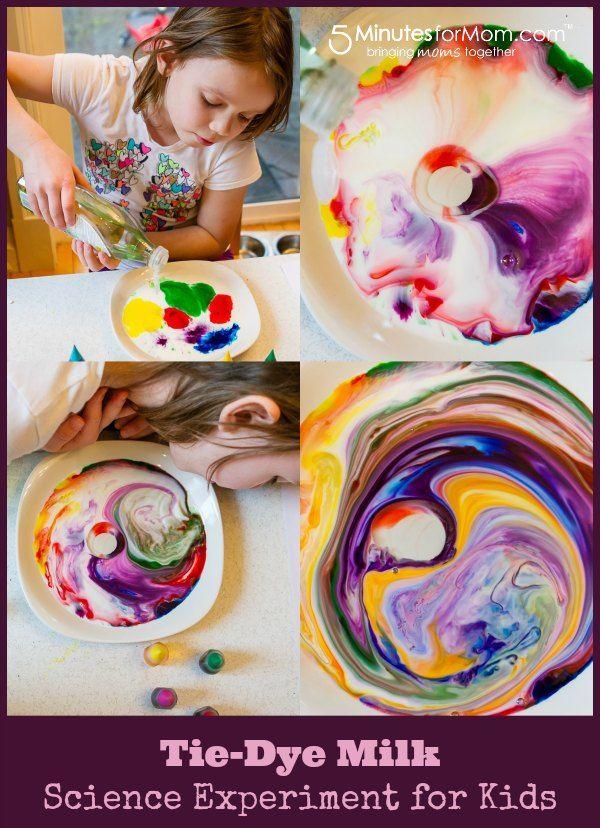 Tie Dye Milk – Easy Science Experiment for Kids