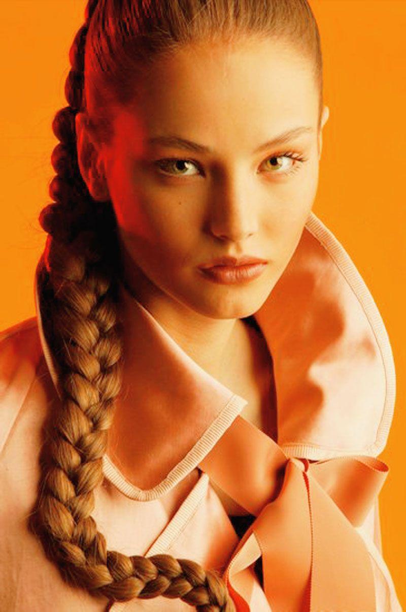 Picture Of Ruslana Korshunova Hair Styles Russian Hairstyles Ruslana Korshunova