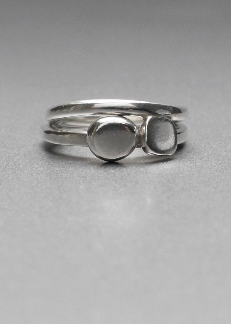 Rudi Sunday // Anni and Otti stacker rings - sterling silver