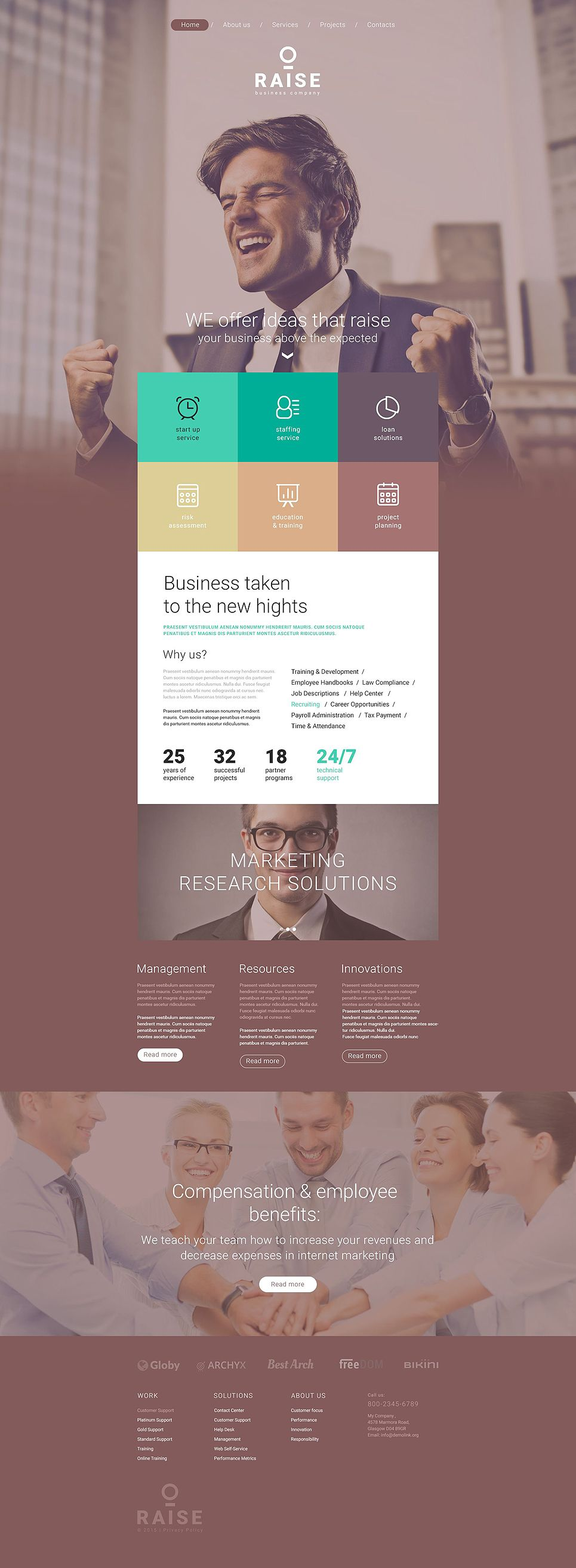 Raise Website Template design Pinterest