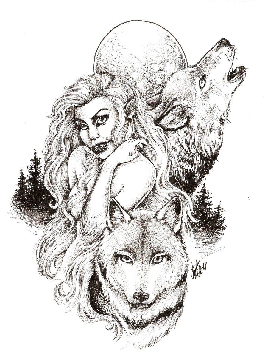 werewolf lady by ceciliekverndokken deviantart com on deviantart