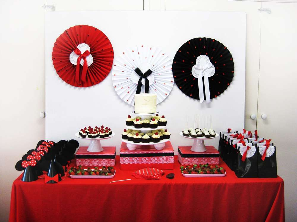 Tavolo Minnie ~ Minnie mouse birthday party ideas