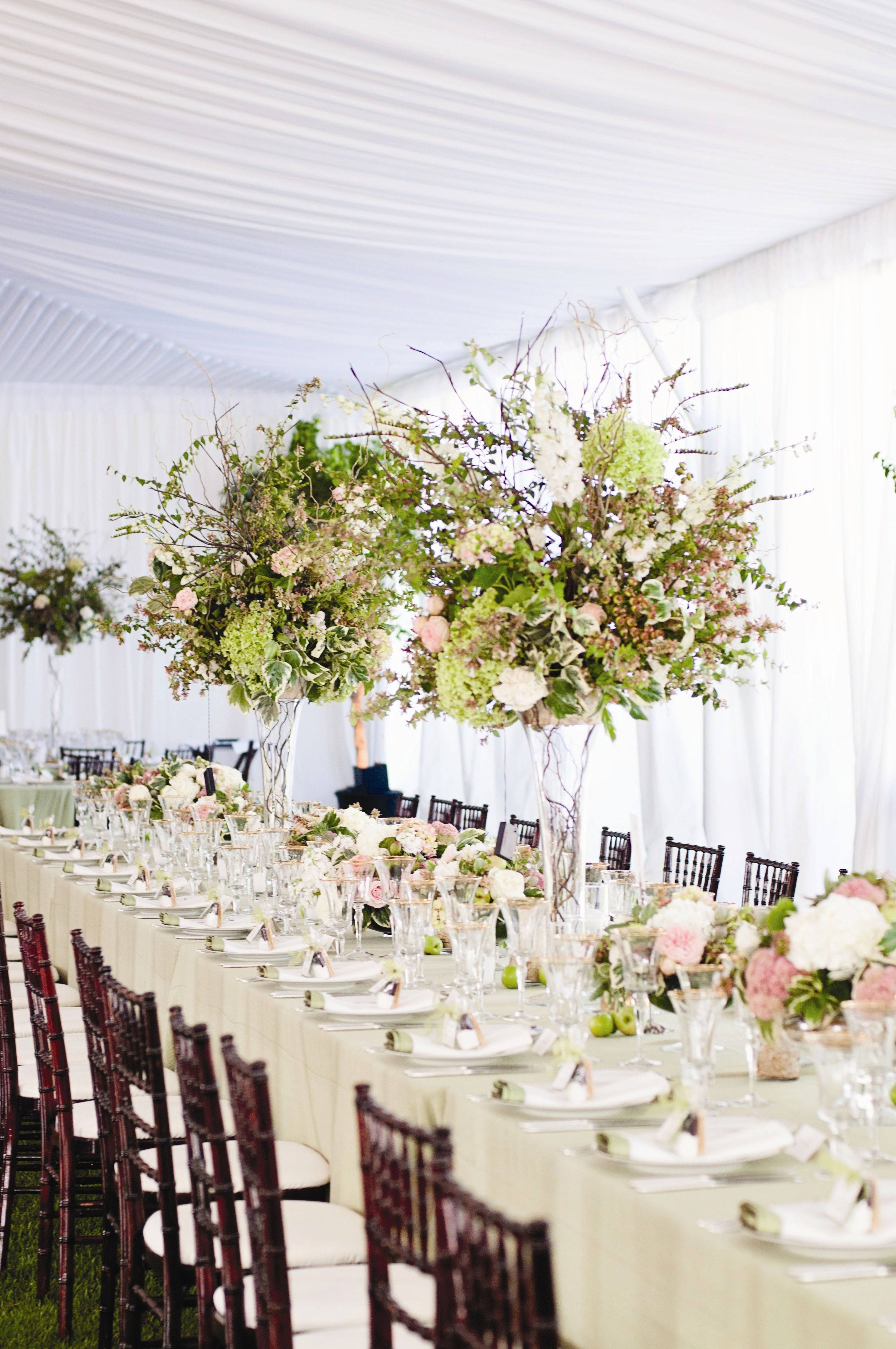 Tall Textured Centerpieces | Thierry Chatrel | Angie Silvy ...