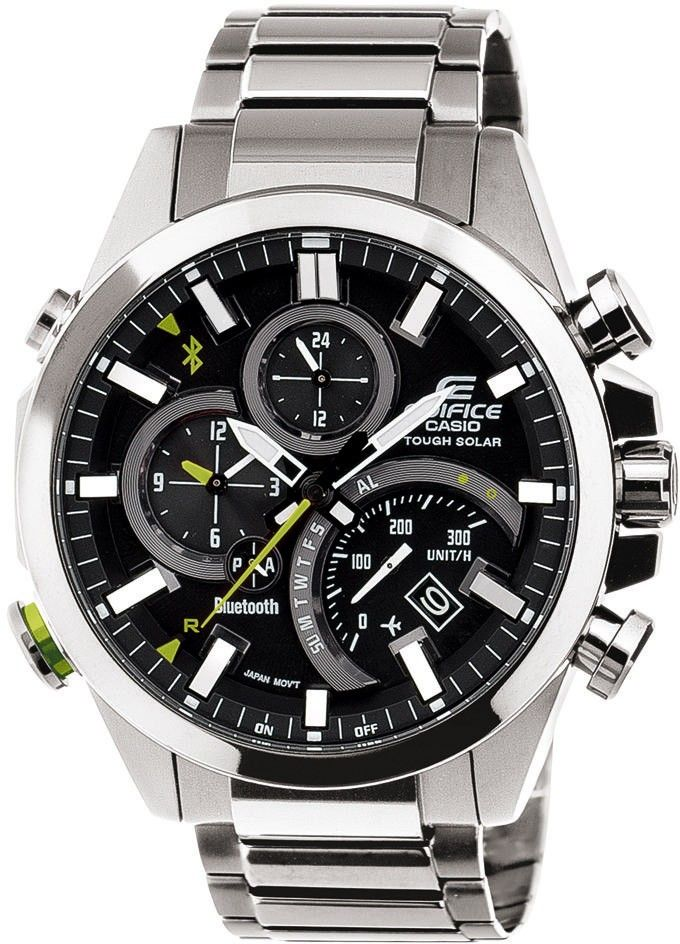 2193dd38dbc Casio Edifice Analogue Bluetooth Watch. EQB-500D-1AER is a bold and  attractive smart watch with solar power