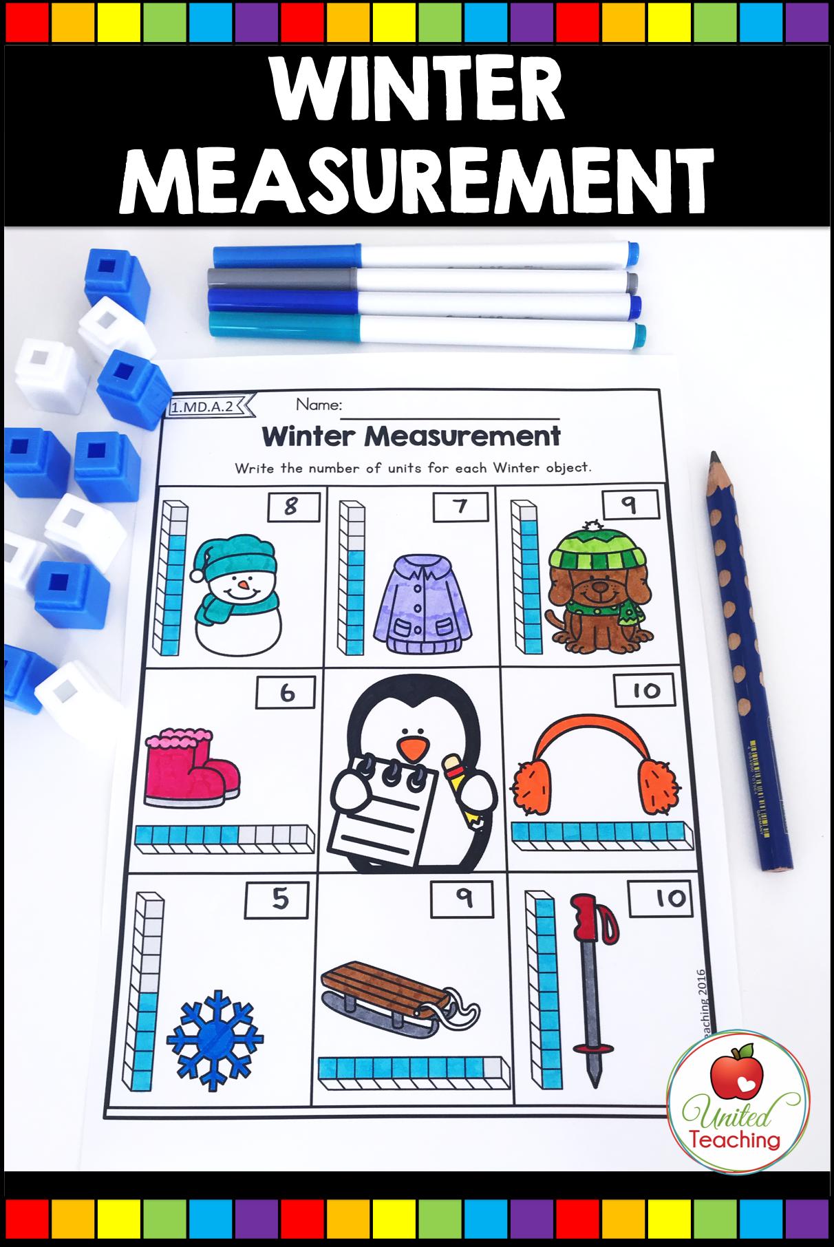 Winter Math And Literacy 1st Grade No Prep Activities