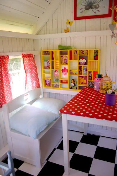 Playhouse ideas decor garden outside interior girls also best cubby house images tool storage inside rh pinterest