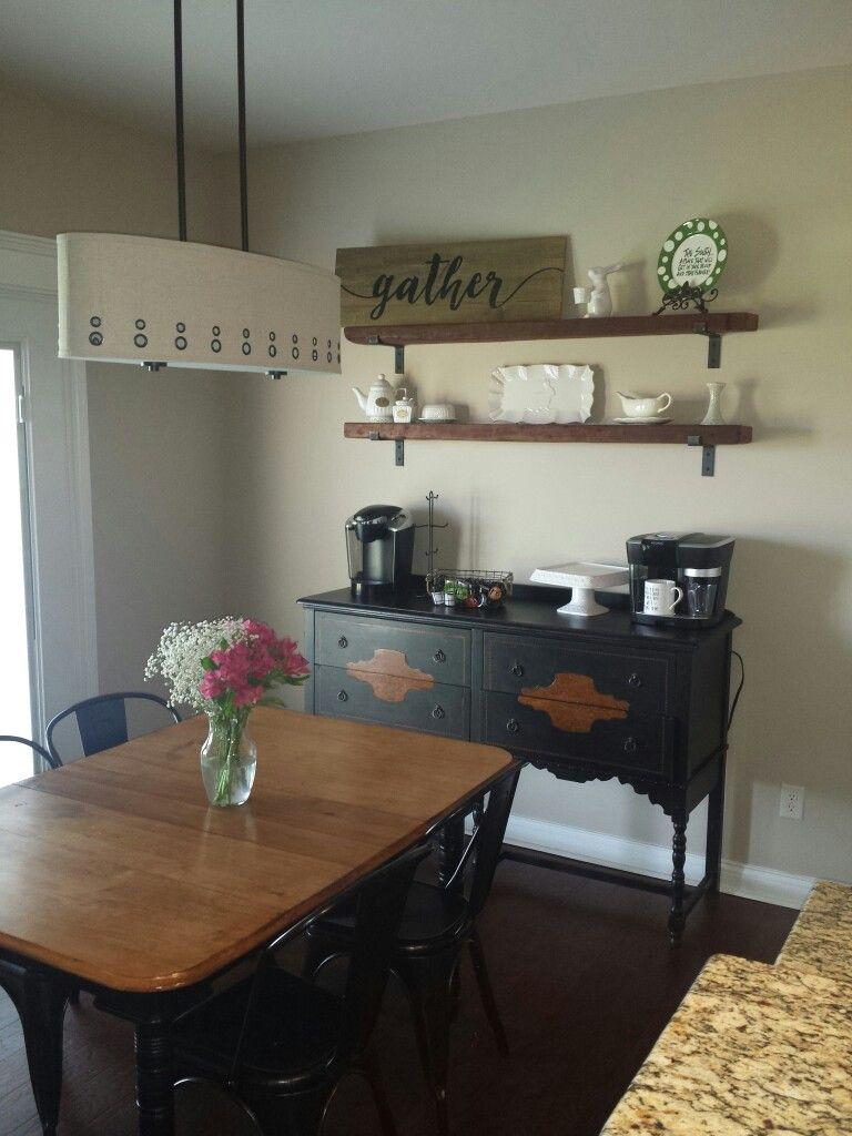 Coffee bar in the breakfast area. #homesweetmccombs ...