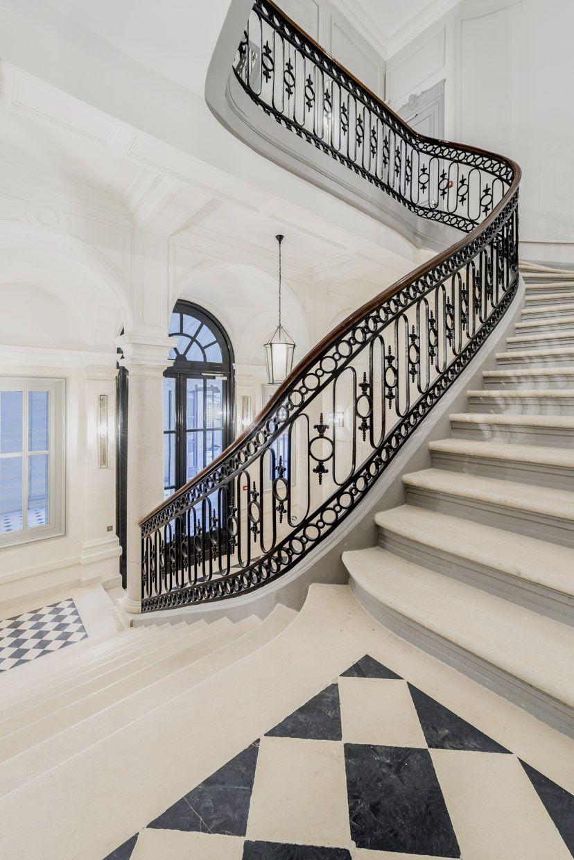 grand escalier lpa architectes escalier stairs pierre stone paris rue de lille paris. Black Bedroom Furniture Sets. Home Design Ideas