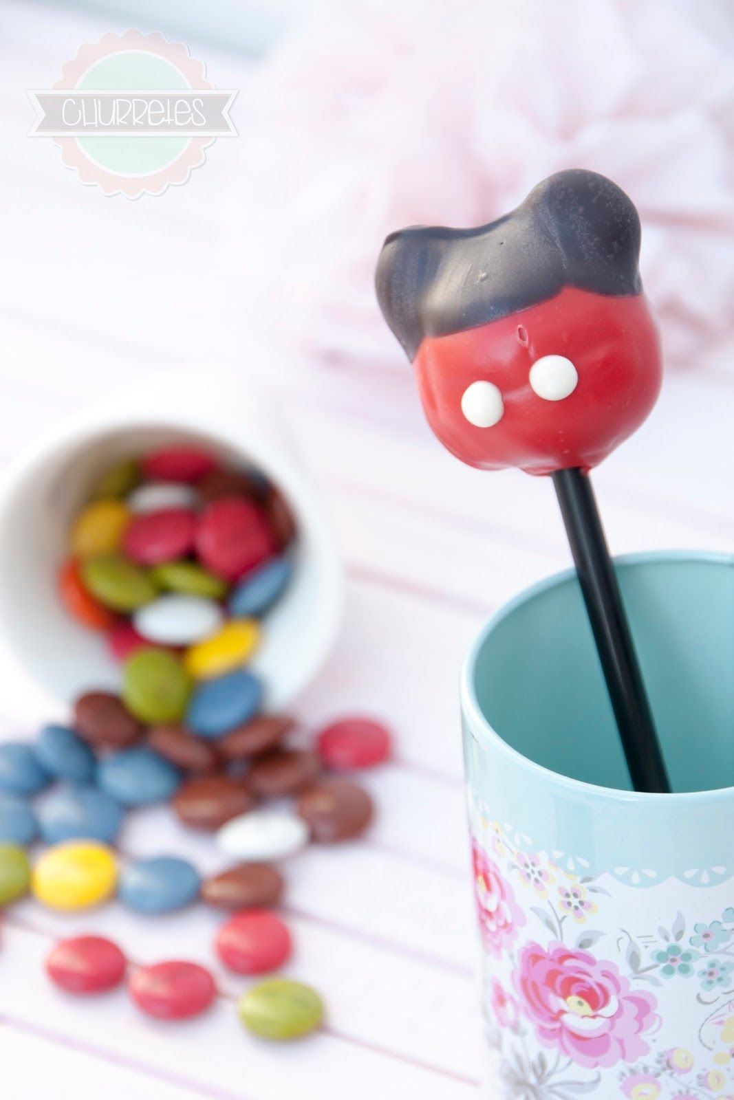 Churretes de Cocholate: CAKE POPS MICKEY MOUSE