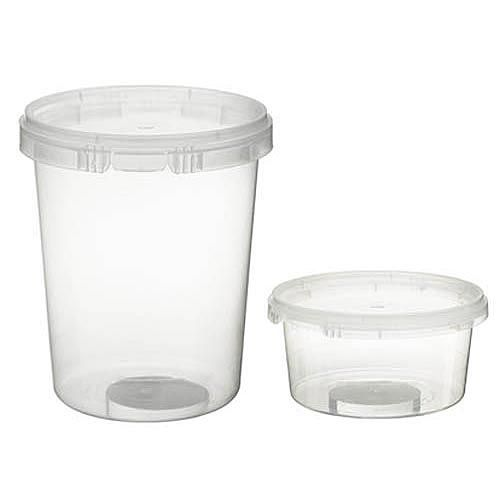 Plastic Round SnapLock Containers with TamperEvident Lid