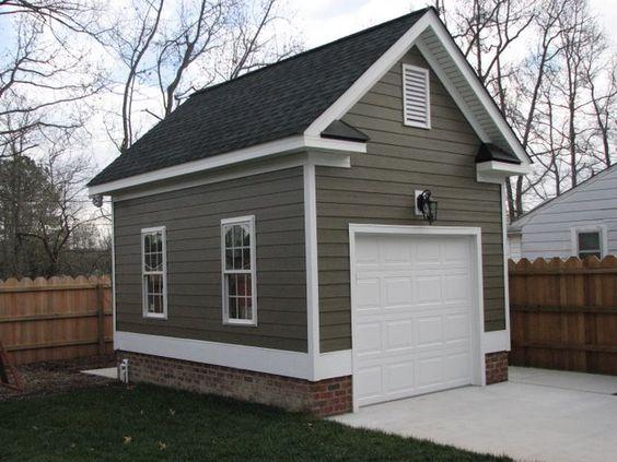One Car Detached Garage Detached Single Car Garage With Hardi Plank Siding Backyard Garage Garage Plans Detached House Without Garage