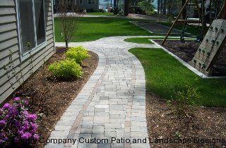 Walkways Sweeney Company Custom Patio And Landscape Designs Landscape Design Walkway Paver Walkway